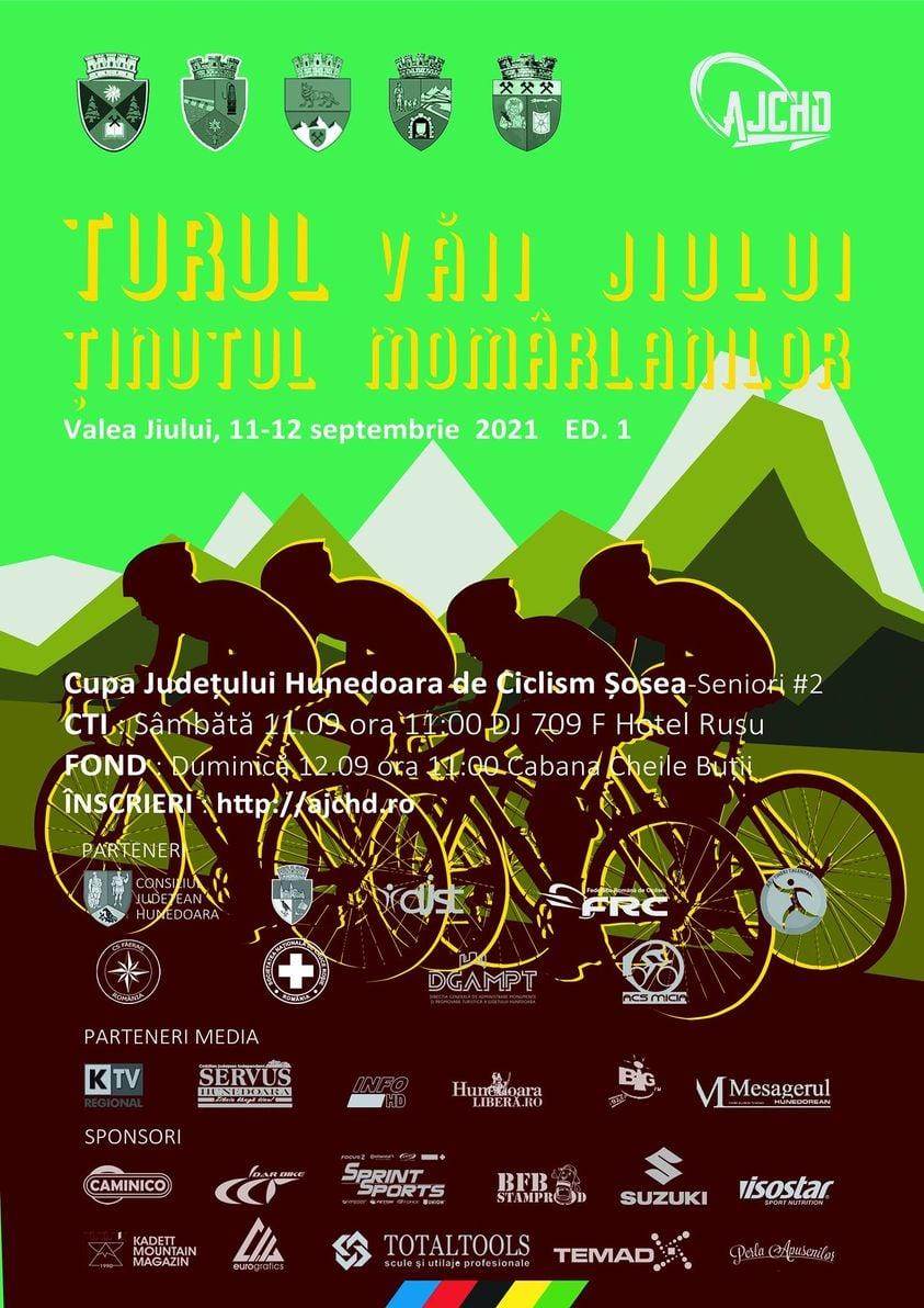 Turul Văii JIULUI la ciclism