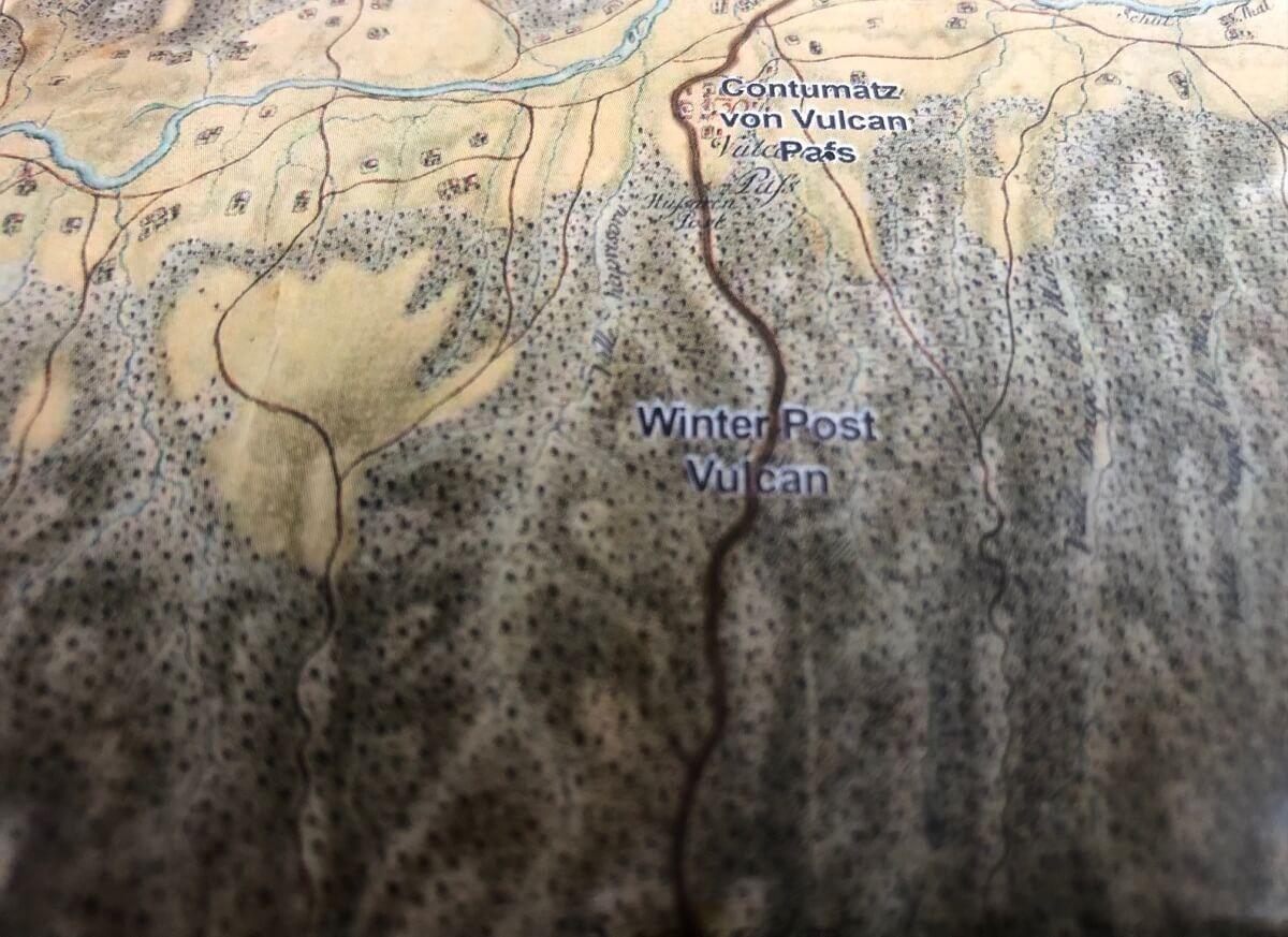 Drumul Poştalioanelor Hartă 1769