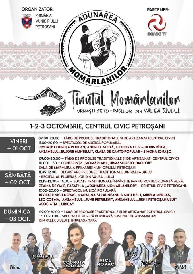 "Program Festival Adunarea Momârlanilor"""